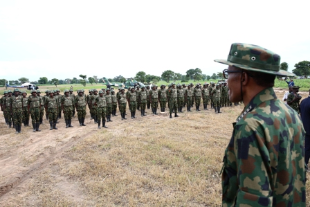 Buhari and the troops