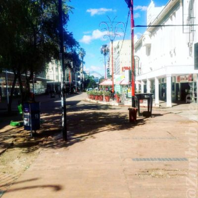 Harare's First Street deserted
