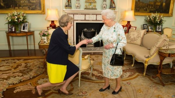 Theresa May and Queen Elizabeth