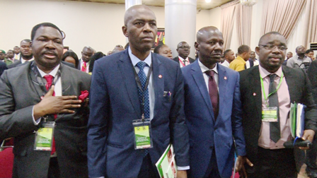 Magu, second right and other participants  at the conference