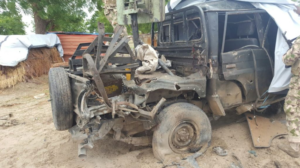 Gun Truck: destroyed beyond repairs during the attack
