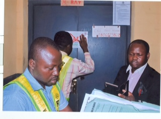 Officials of RRBN sealing one of the X-Ray units