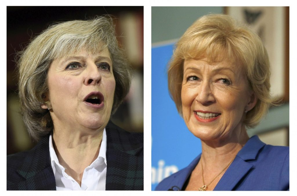 Theresa May, left, and Andrea Leadsom