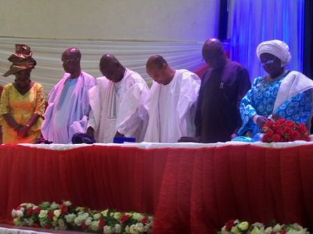 From right, Chief (Mrs) Abosede Onanuga, ogun state deputy gov, Tunde Bakare, Alani Akinrinade and other