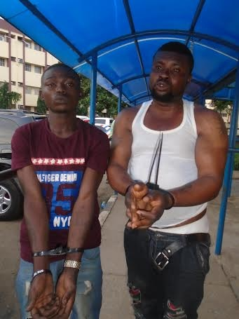 Two of the cultist arrested in Ikorodu