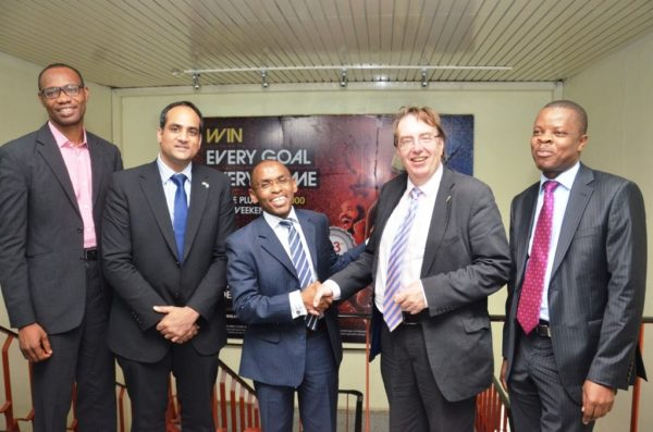 L-R: Supply Chain Director, Cephas Afebuameh; Acting Deputy British High Commissioner, Bashir Ahmed, Managing Director/CEO, Guinness Nigeria, Mr. Peter Ndegwa; Prime Minister's Trade Envoy to Nigeria, Hon. John Howell; and Corporate Relations Director, Mr. Sesan Sobowale during the envoy's visit to Guinness Nigeria Plc's Ogba Brewery, Lagos which took place at the weekend.
