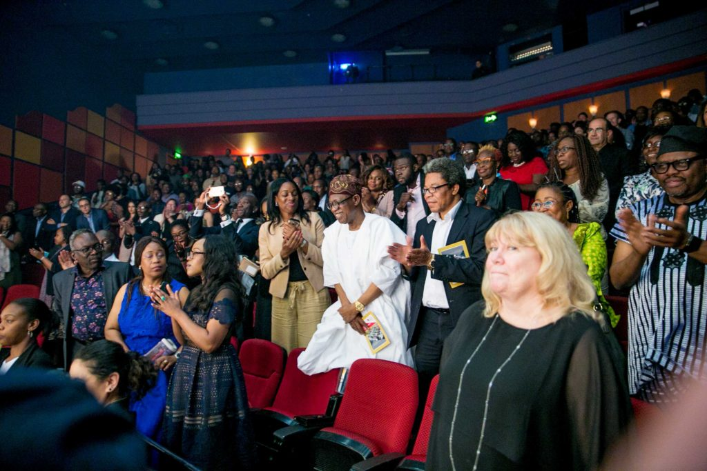 Minister of Information and Culture Alhaji Lai Mohammed at the Shaw Theatre in London on Friday July 22nd 2016 to watch the London Edition of Wakaa The Musical. Photo credit - Jermaine Sanwoolu.