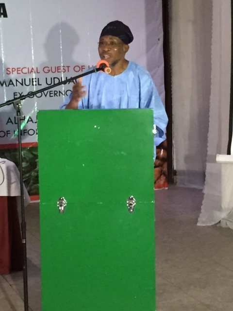 Aregbesola addressing editors at Hotel Presidential, Port Harcourt, Rivers State