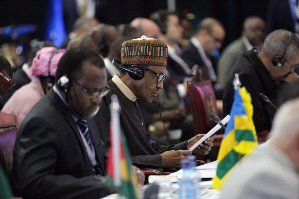 President Buhari at the TICAD Conference