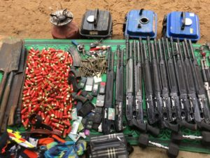 Items recovered from the militants