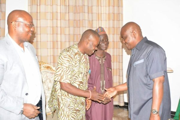 Wike welcoming other members of the Guild