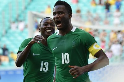 Nigeria's captain, Mikel excited after the match