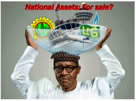 Buhari and National Assets. Picture credit: buzz nigeria