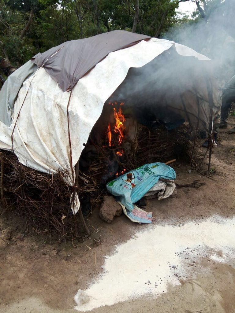 camp-of-the-Bauchi-kidnappers-set-ablaze-by-soldiers.