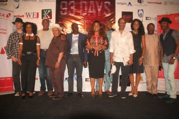 Cast and crew of 93 days