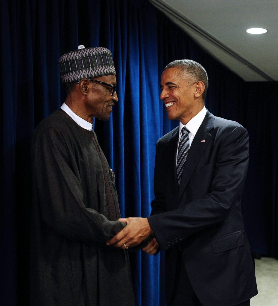 President Buhari meets Obama at the side event of UNGA