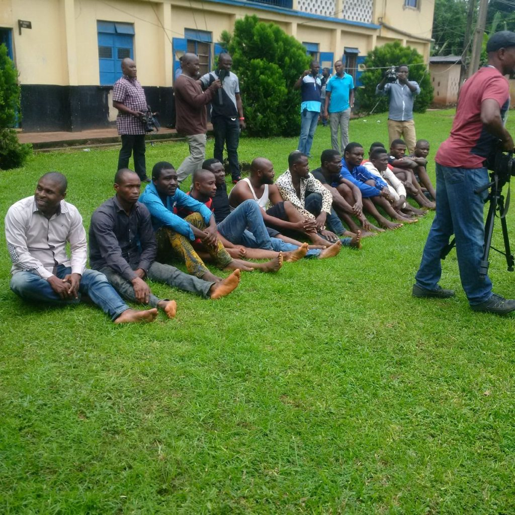 The-suspects-paraded-by-police
