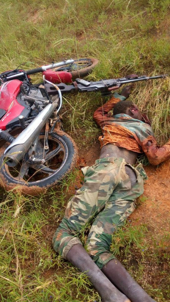 One of the Boko Haram members killed during the encounter with soldiers
