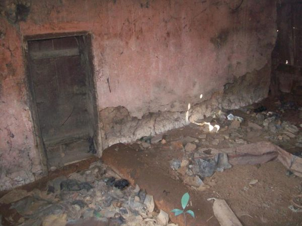 One of the dirty parts of the palace