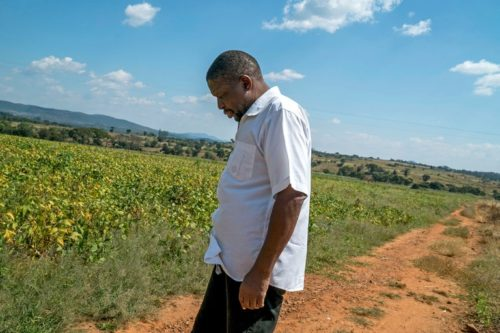 Agrippah Mutambara at his farm on the outskirts of Bindura, Zimbabwe. Like dozens of political figures who have fallen out of favor, he is facing the seizure of his farm. Credit Joao Silva/The New York Times