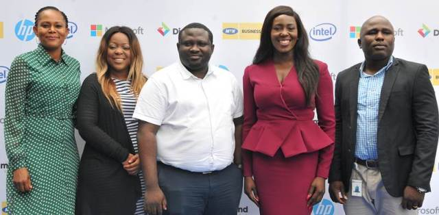 L-R: Njideka Esomeju, Head, Emerging Businesses, Diamond Bank Plc; Bunmi Bialose, Channel Marketing Manager, Microsoft Nigeria; Tolulope Lawani, Marketing Manager, Microsoft Nigeria; Abimbola Bamigboye, CEO/Founder, Audeo; and Adeniyi Adebote, SMB Customer Marketing, Microsoft Nigeria at the SME Business Club 2016 event held recently in Lagos.