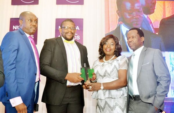 L-R: Assistant General Counsel, Sterling Bank Plc, Mr. Femi Aiyegbusi; Managing Partner, Bulwark Attorneys, Mr. Tochukwu Chukwumerije; Company Secretary, Sterling Bank Plc, Justina Lewa and Lega/Company Secretariat, Sunny Kanabe, during the Nigerian Legal Awards in Lagos..Friday