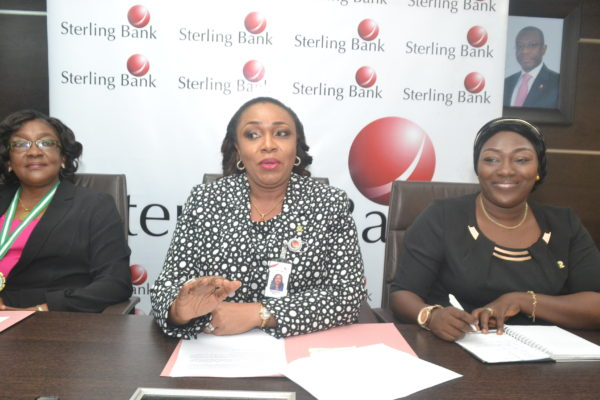 Toyin Ojo, Chairperson, Association of Professional Women Bankers (APWB); Mojisola Bakare – Asieru, Group Head, Corporate Banking, Sterling Bank Plc and Chairperson, APWB Forum/Dinner and Adeola Osho, Ist Assistant Secretary, APWB at the press briefing unveiling the agenda for the forthcoming Forum / Dinner of the Association in Lagos recently