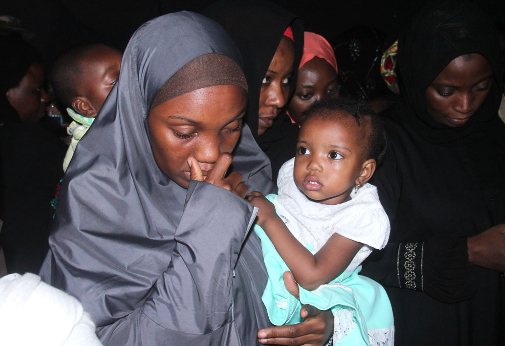 Sameria with her one year old daughter, Aseeya