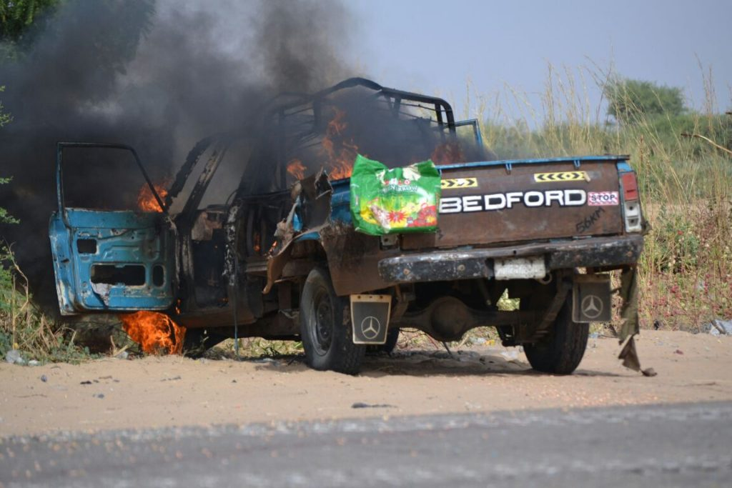 The BEDFORD truck of the suicide bombers