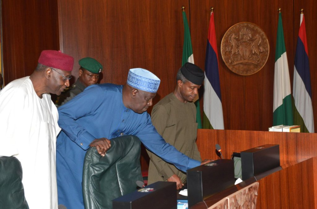 VP Osinbajo held forth for the President at the FEC meeting