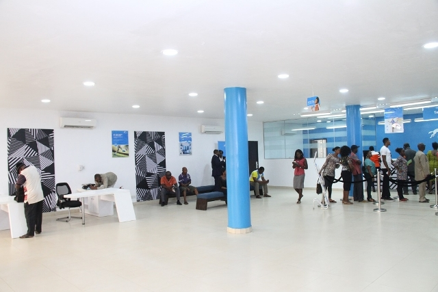 Inside one of the Union Bank branches, Enugu