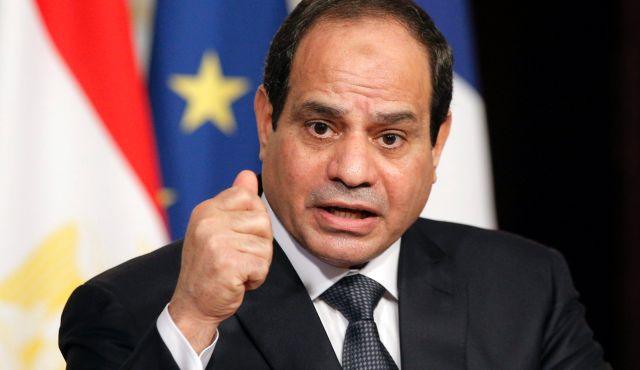 President Abdel-Fattah al-Sisi: the suspects allegedly plotted to kill him