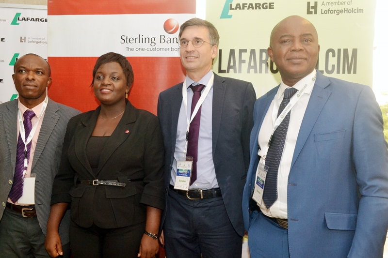 L-R: Biomass Fuels Project Manager, Geocycle, Lafarge Africa Plc, Greg Salami; Head, Branding, Sterling Bank Plc, Peju Ibekwe; Head, Sub Sahara Africa for Geocycle (Waste and Common Management for Lafarge, Holian Group), Olivier Doyen and Chief Executive Officer, Globetech Remedial, Ola Oresanya, during the National Waste Management Conference in Lagos recently.