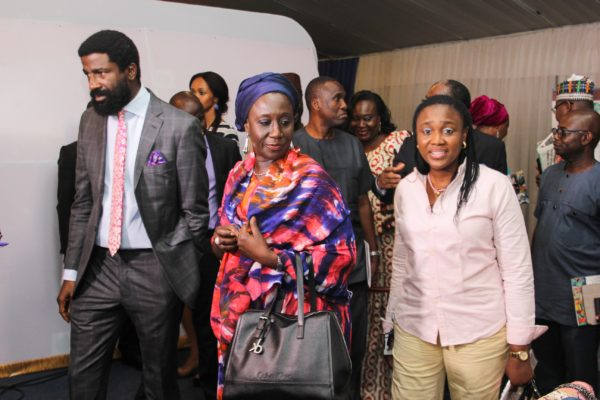 L-R: Tokunbo Akerele; Chairman Style House Files/Lagos Fashion and Design Week, Aisha Abubakar; Minister of State for Industry, Trade and Investment and Omolara Akinfolarin; Head MSME Banking, Sterling Bank Plc at the Lagos Fashion and Design Week 2016 X-Retail  on Friday