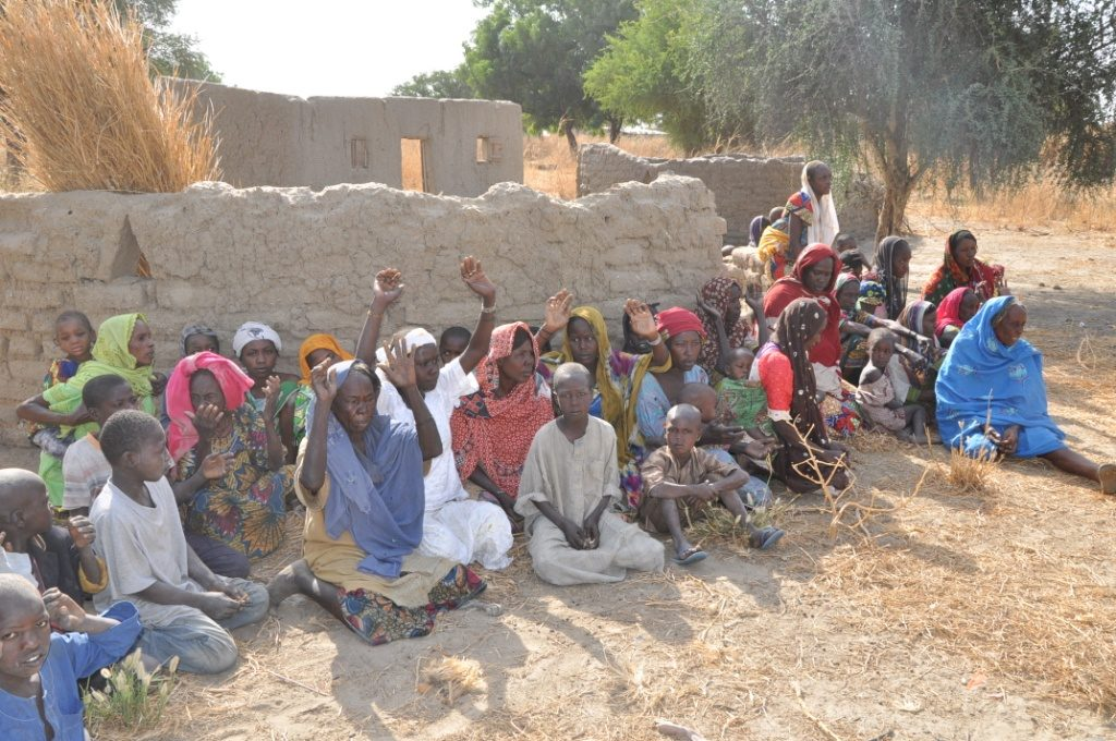 Some of the women  rescued from territories liberated from Boko Haram