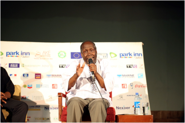 Ngugi speaking during the Life and Times Series.Photograph: AdedejiHamed /Elixir
