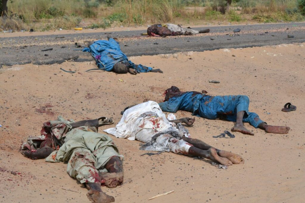 Remains of the terrorists