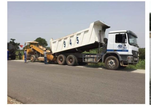 Work in Progress. Personnel of  Mothercat Nigeria Limited, working on the dualization of Kano - Maiduguri Road, (Section III : Azare - Potiskum Road)  as part of the on going rehabilitation of roads across the country by the Federal Ministry of Power, Works and Housing under the 2016 Budget.