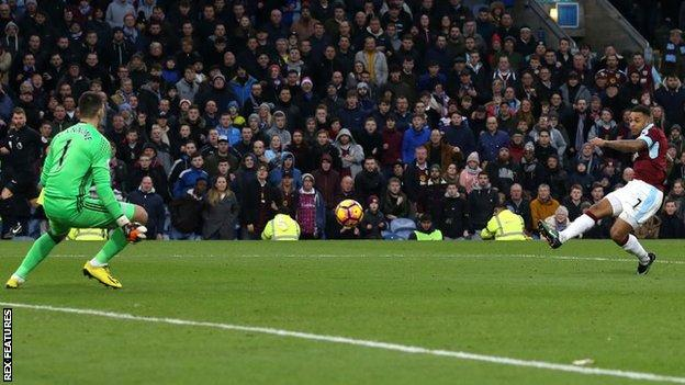 Andre Gray scores hat-trick for Burnley