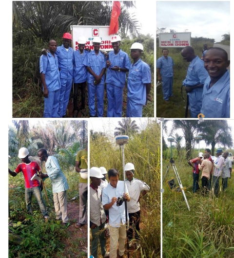 All the photos: Work in Progress... Personnel of the CGC Nigeria Limited,working on the dualisation of Sapele - Agbor - Ewu Road Section I in Delta State