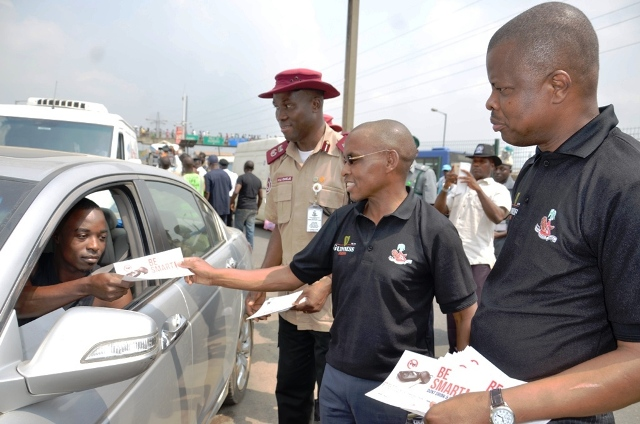 Flag off of the campaign with Managing Director/CEO, Guinness Nigeria Plc, Mr. Peter Ndegwa at Ketu garage recently