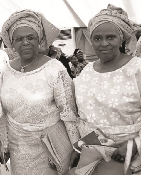 INHERITORS OF HID'S LEGACY: The eldest and youngest daughters, Revd, Tola Oyediran (R) and Dr. Tokunbo Awolowo Dosumu.