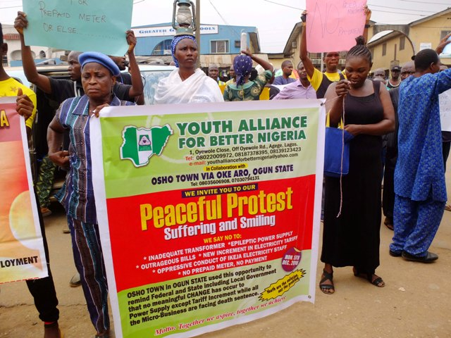 Osho Town protesters