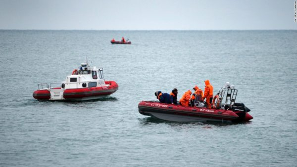 Rescue team in seach of bodies of victims of Russian air crash