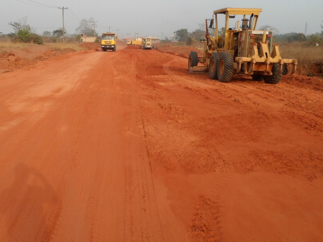 All photos: Personnel of the CGC Nigeria Limited,working on the Rehabilitation of Umana -Ndiagu - Agba - Ebenebe -Amansi Akwa with Supr to Umumba Road Section II (Umuna Ndiagu - Umunba/Nkwa -Ezeagu Express Obelegu Section ) Enugu State first awarded in 2012 but poorly funded until releases were made from the 2016 budget which would make possible the engagement of 300 local staff and deployment of 102 sets of equipment. .