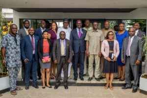 Gov. Obaseki with members of the Strategic Planning Committee
