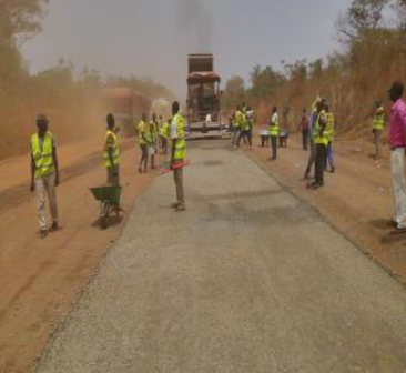 All the photos: Work in Progress... Construction workers making progress on the Rehabilitation of Ilorin -Jebba -Mokwa-Birnin -Gwari-Kaduna-Road in Kwara State first awarded in 2013 but poorly funded until releases were made from the 2016 budget which has made possible the engagement of 350 local staff and deployment of 100 sets of equipment.