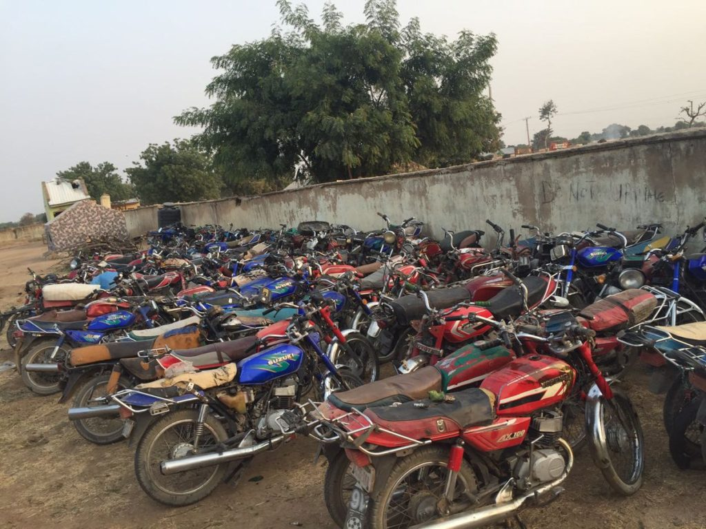 Motorcycles recovered from Boko Haram terrorists