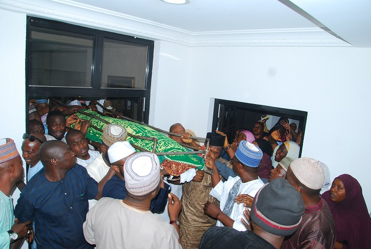 The remains of ex gov. Kure being taken for burial (Photo: FEMI IPAYE)