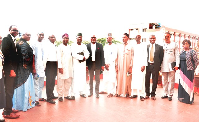 The Permanent Secretary, Public Service Office (PSO), Mr. Taofiq Adeyemi Fashola, fifth left; Director General, Kaduna State Bureau of Public Service Reforms(BPSR), Mr. Bashir  Muhammad; the Director General, Office of Transformation, Creativity and Innovation(OTCI), Mr. Toba Otusanya  with members of Staff of OTCI and BPSR during the two-day visit.